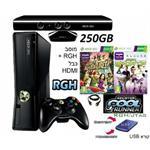 Xbox360 : 250 Giga Slim + Kinect מוסב