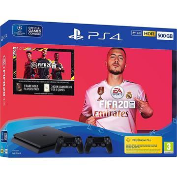 Playstation 4 Slim 500G fifa20 חבילת כדורגל פיפא 20